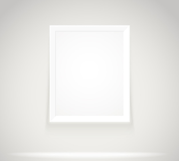 Яркая рамка на стене. фотореалистичные фоторамки векторные иллюстрации