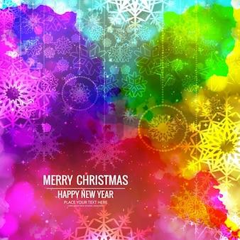 Красочный фон счастливого рождества
