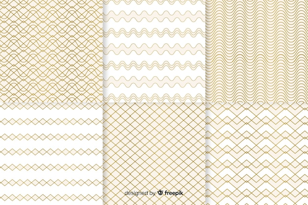 Bright geometric luxury pattern collection