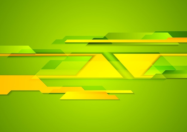 Bright geometric shapes tech background. vector design