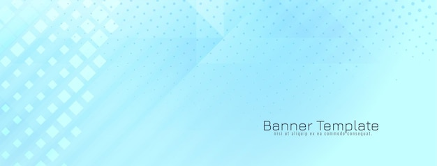 Яркий геометрический мягкий синий баннер дизайн вектор