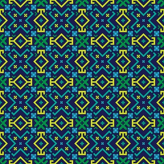 Bright geometrical seamless pattern in the bulgarian style.