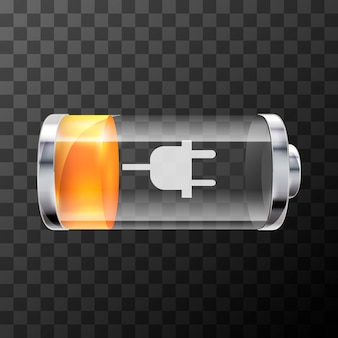 Bright glossy battery icon