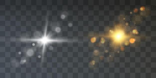 Яркое свечение световой эффект звезды космические лучи блики