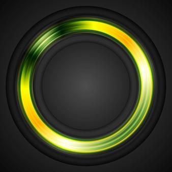 明るく輝くサークルのコンセプトロゴ。ベクトルデザイン