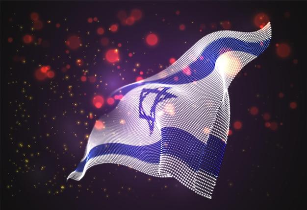 이스라엘의 밝은 빛나는 국가 국기