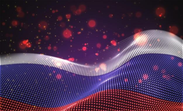 Яркий светящийся флаг страны россии