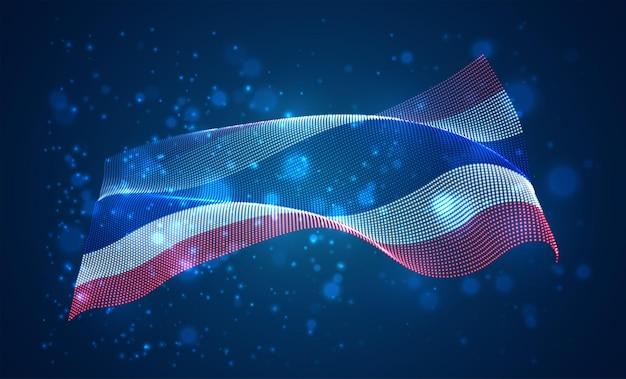 태국의 밝은 빛나는 국가 국기