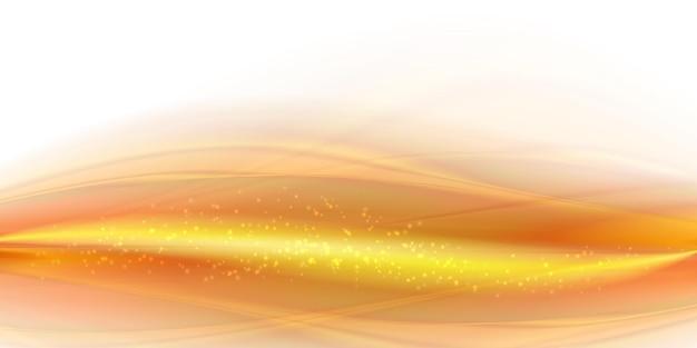밝은 금 연기 파도 배경 추상 모션 물결 모양 그림 부드러운 노란색 부드러운 라인