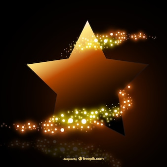 Bright gold star Free Vector