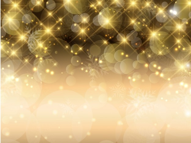 Bright golden bokeh background