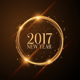 Bright golden circle 2017 background
