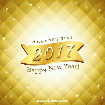 Bright golden new year background