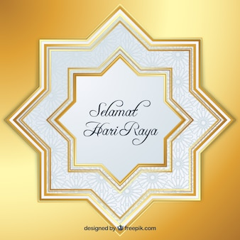 Bright golden stars background for eid al-adha