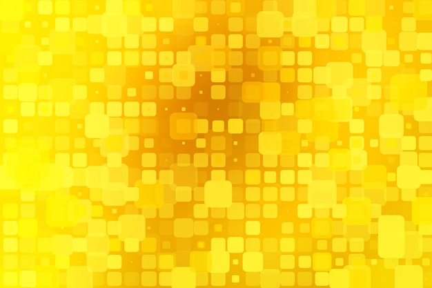 Bright golden yellow glowing various tiles background