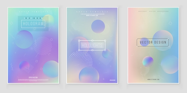 Bright gradient background set for mobile applications.