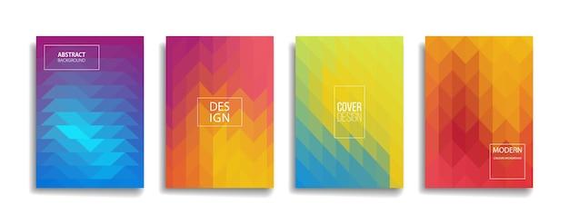 밝은 그라데이션 색상 추상 커버 디자인. 트렌디하고 생생한 컬러로 현대적인 배경 디자인.