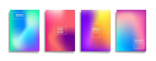 明るいグラデーションカラー抽象的なラインパターンの背景カバーデザイン。