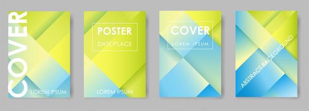 Bright gradient design for brochures