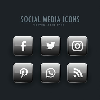 Bright gray icons, social networks