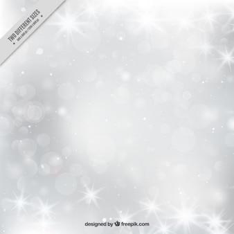 Brillante grigio bokeh sfondo invernale