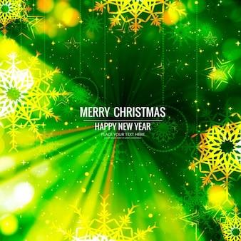 밝은 녹색 배경, 메리 크리스마스