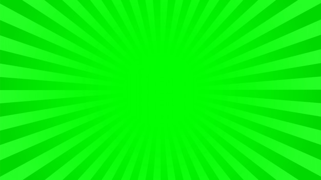Bright green rays background