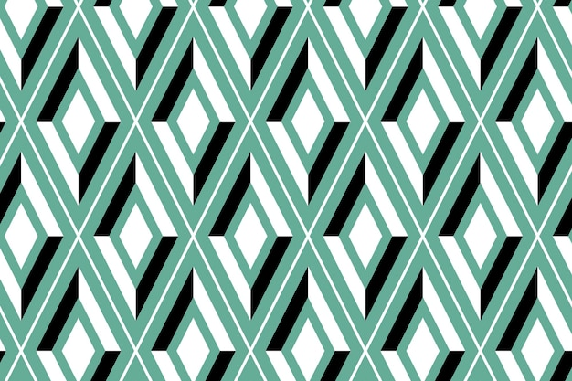 明るい緑のシームレスな幾何学模様の背景ベクトル