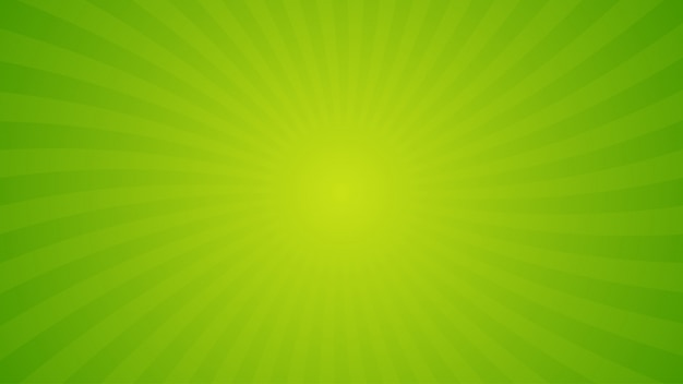 Bright green spiral rays background.