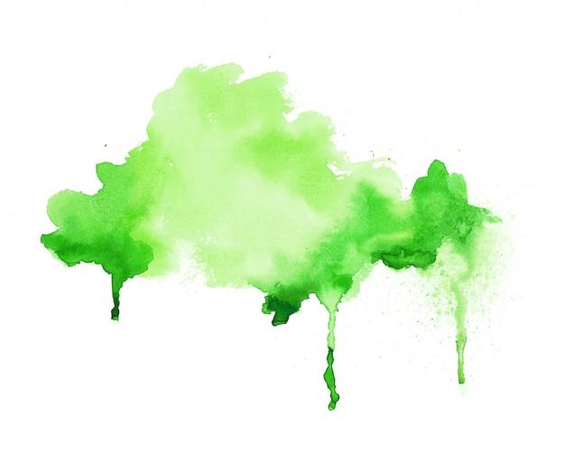 Ярко-зеленая акварель ручная роспись текстуры фона