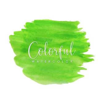 Ярко-зеленые акварельные мазки