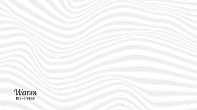 밝은 회색과 흰색 파도 배경 디자인