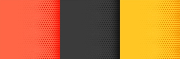 Bright halftone background in red yellow and black colors