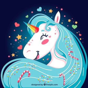 Bright happy unicorn background