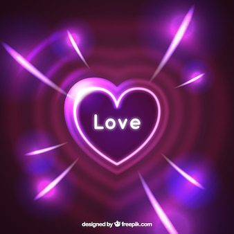 Bright heart background in purple tones