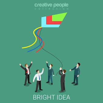 Bright idea kite running flat isometric prophecy and fate business