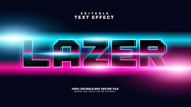 Bright laser text effect