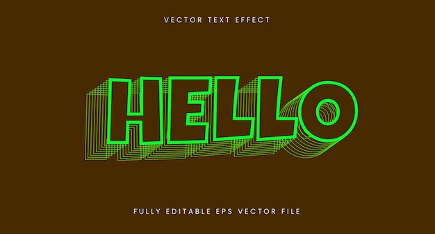 Bright layered text effect