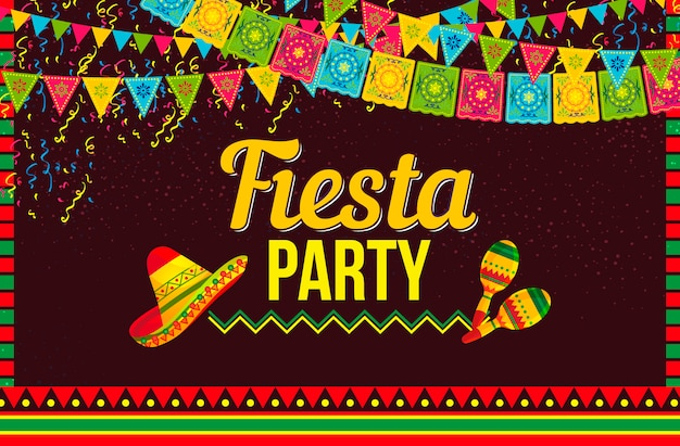free vector mexican party invitation