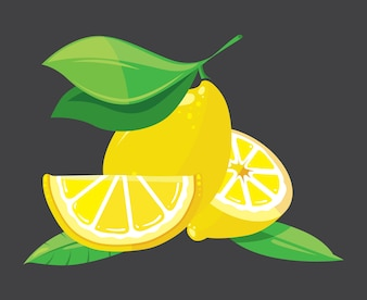 Bright lemons vector illustration