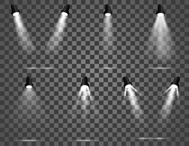 Яркий световой луч установлен обтравочный контур