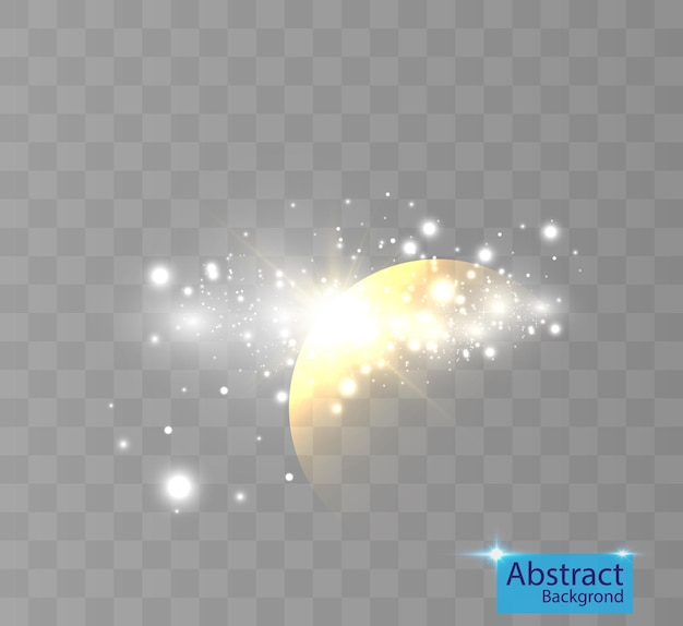 Bright light effect with highlights for backgrounds and illustrations.