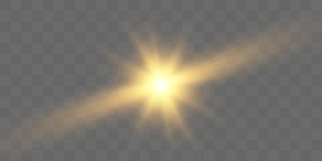 벡터 일러스트레이션을 위한 광선 및 하이라이트가 있는 밝은 조명 효과