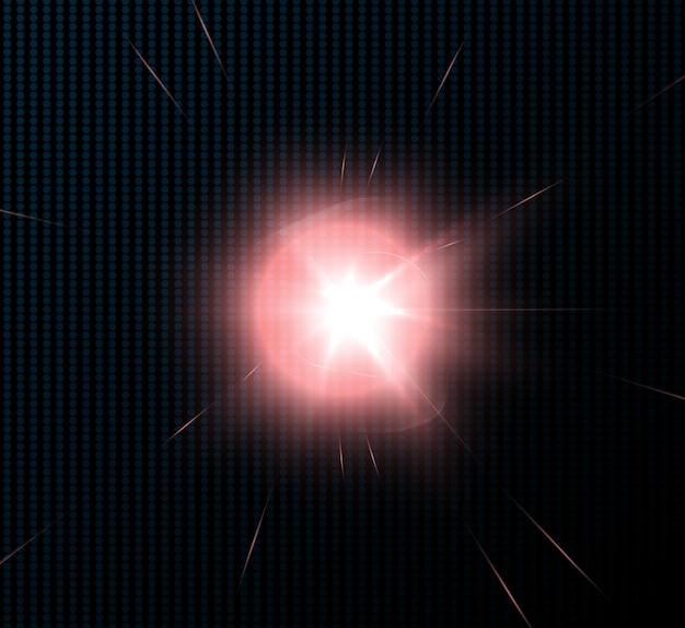 光線とハイライトによる明るい光の効果