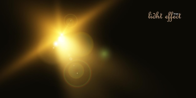 光線とハイライトによる明るい光の効果。