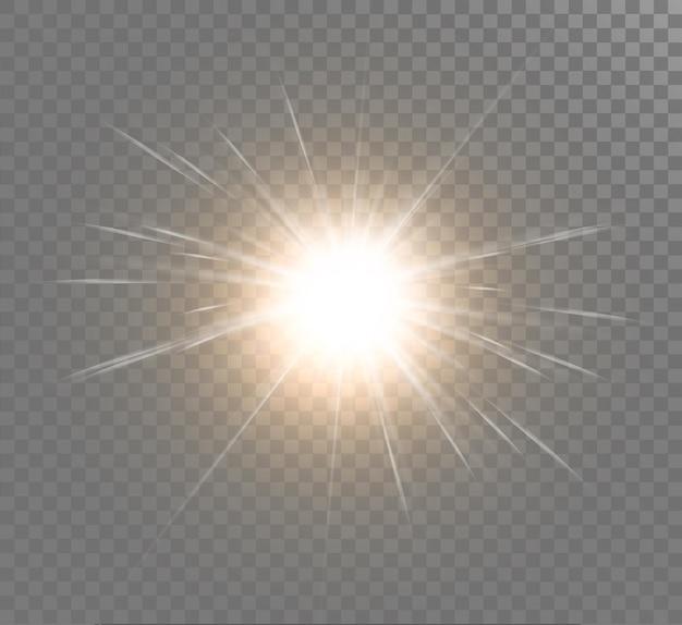 광선으로 밝은 조명 효과
