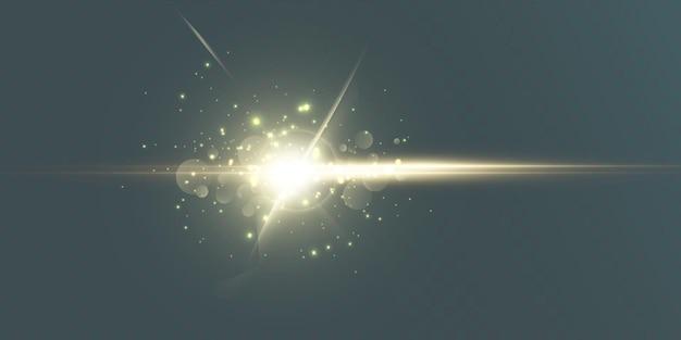 Яркий световой эффект с лучами