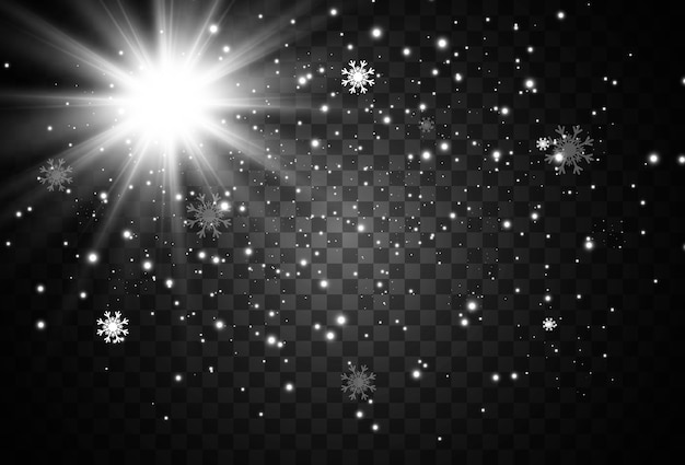 明るい光のフレアの図
