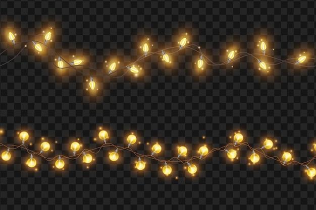 밝은 빛 문자열 화환 벡터 크리스마스 휴일 조명 그림 크리스마스 장식