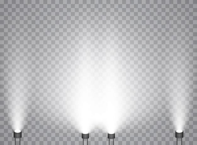 スポットライト付きの明るい照明